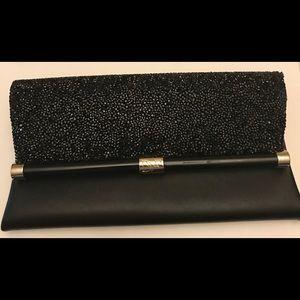 Black evening clutch w dustbag